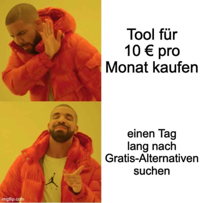 Meme: Tools kaufen
